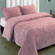 Ashton Bedspread Queen - Rose