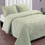 Ashton Bedspread Full - Sage