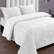 Ashton Bedspread Full - White