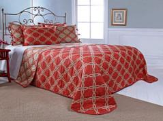 Belmont Bedspread Queen - CORAL