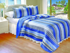 Brisbane Stripe Quilt SET King