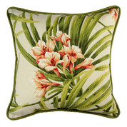Cozumel Square Throw Pillow - Print