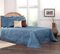 Gardenia Bedspread Full - Marine