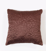 Gardenia Throw Pillow - Espresso