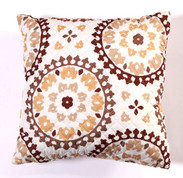Melina Throw Pillow - Chocolate