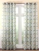 Melina Grommet Top Curtain Panel - Spa