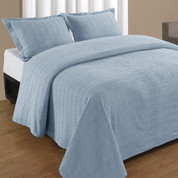 Natick Bedspread Queen - Blue
