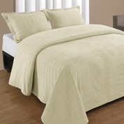 Natick Bedspread Queen - Ivory