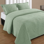 Natick Bedspread Queen - Sage