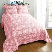 Rosa Bedspread Queen - Pink