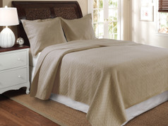 Vashon taupe quilt set from Greenland