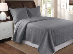 Vashon Gray Quilt SET Twin