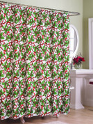 Christmas Ribbons Shower Curtain