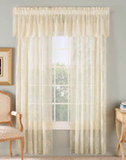 "Stella Embroidered Rod Pocket Curtain 84"" long - Gold"