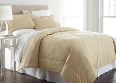 Micro Flannel - 3pc F/QUEEN Comforter Set - Chino from Shavel