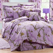 Realtree AP - 4pc Full Comforter Set - Lavender