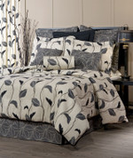 Yvette - 4 pc QUEEN Comforter Set - Eclipse
