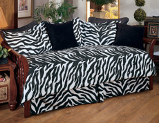 Black Zebra Lined Curtain pair