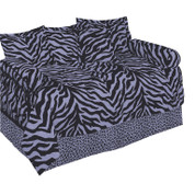 Lavender Zebra Daybed Cover Set