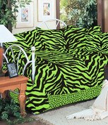 Lime Zebra Daybed Cover Set