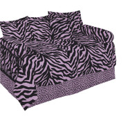 Pink Zebra Square Pillow