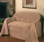 Alexandria Loveseat Cover - Chocolate