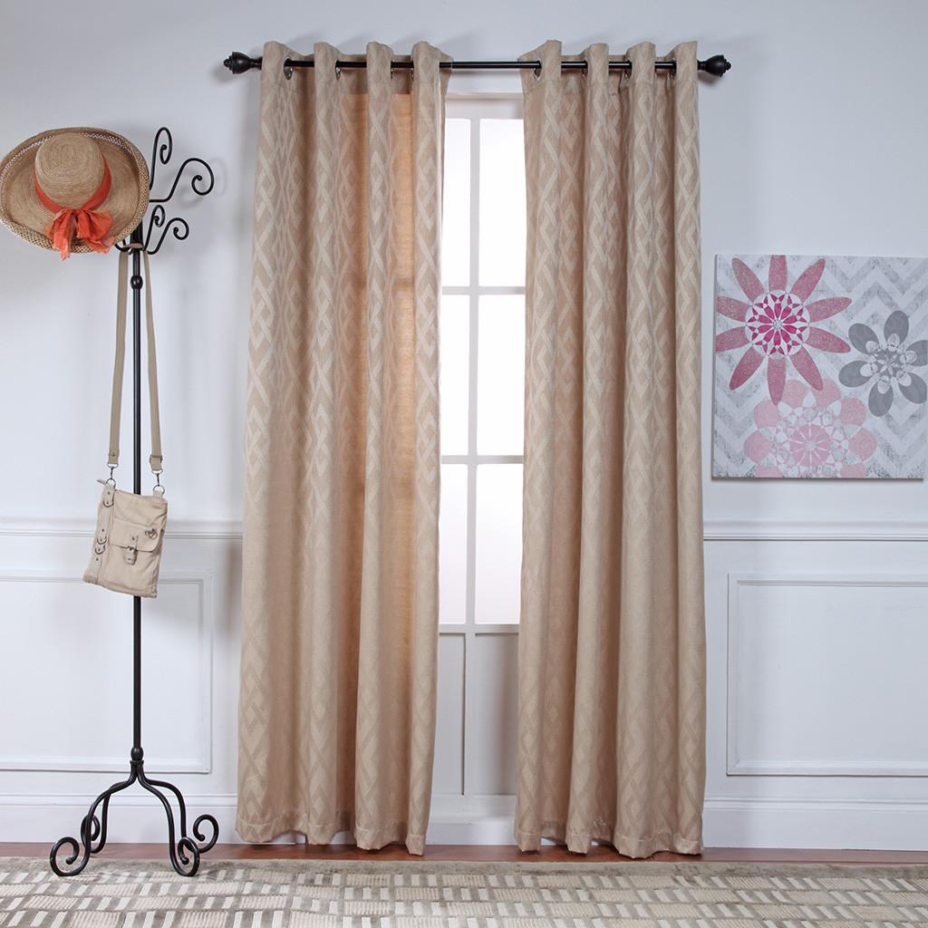 Adrian Grommet Top Curtain Panel Sand
