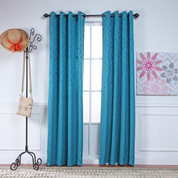 Adrian Grommet Top Curtain Panel - TEAL