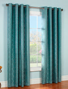 Anna Grommet Top Curtain pair - TEAL