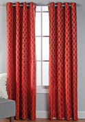 Broadway Grommet Top Curtain Panel - Crimson
