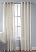Broadway Grommet Top Curtain Panel - Ivory
