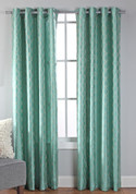 Broadway Grommet Top Curtain Panel - Teal