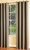 Darcy Insulated Grommet Top Curtain Panel - Brown
