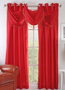 Chelsea Grommet Top Curtain Panel - Crimson