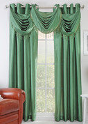 Chelsea Grommet Top Curtain Panel - Emerald