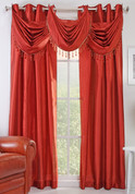 Chelsea Grommet Top Curtain Panel - Rust