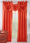 Chelsea Grommet Top Curtain Panel - Tangerine