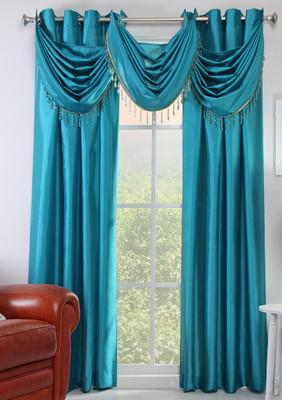 Chelsea Grommet Top Curtain Panel Teal Linens4less Com