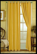 Elaine Grommet Top Curtain - Yellow (Spicy Mustard)