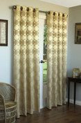 Hologram Grommet Top Curtain Panels - GOLD