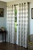 Hologram Grommet Top Curtain Panels - SILVER