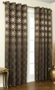 Hologram Grommet Top Curtain Panels - BROWN