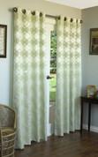 Hologram Grommet Top Curtain Panels - SAGE