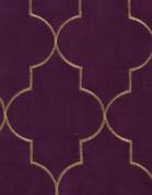 Hudson Embroidered Grommet Top Panel - Amethyst