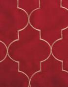 Hudson Embroidered Grommet Top Panel - Crimson