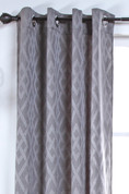 Kelly Grommet Top Curtain Panel - PEWTER
