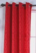 Kelly Grommet Top Curtain Panel - CHERRY