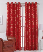 Lafayette Grommet Top Curtain Panel  - Crimson