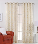 Lafayette Grommet Top Curtain Panel  - Gold