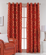 Lafayette Grommet Top Curtain Panel  - Rust